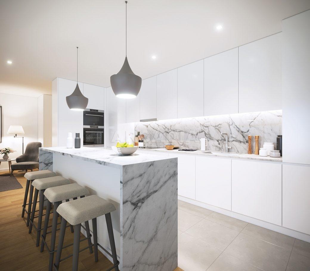 E-apartamentos-novos-e-modernos-perto-do-centro-de-braga-cozinha-com-balcao-ilha