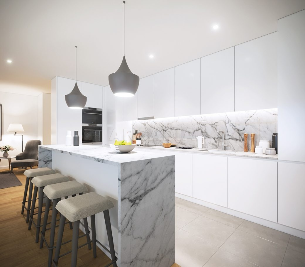 H-apartamentos-novos-e-modernos-perto-do-centro-de-braga-cozinha-com-balcao-ilha